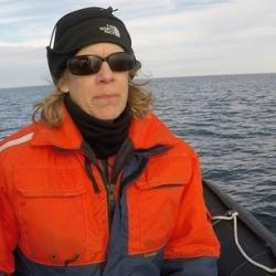 North Atlantic right whale expert Barb Zoodsma.