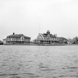View of the Woods Hole Lab from the water in 1885.
