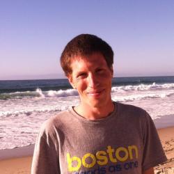 Brian Free at the beach.