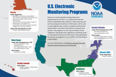 Map of U.S. electronic monitoring programs