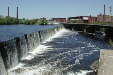 The Essex Dam in Lawrence Massachusetts