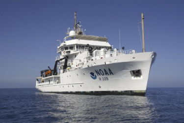 NOAA Ship Reuben Lasker departing to conduct a cetacean and ecosystem assessment off the U.S. West Coast.
