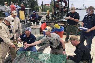 Jason Letort while providing law enforcement turtle excluder device training.