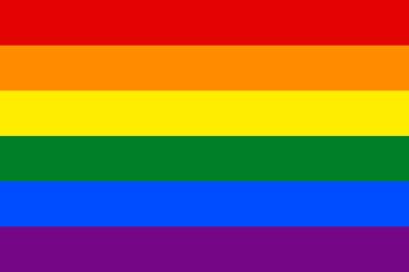 Traditional Gay Pride Rainbow Flag