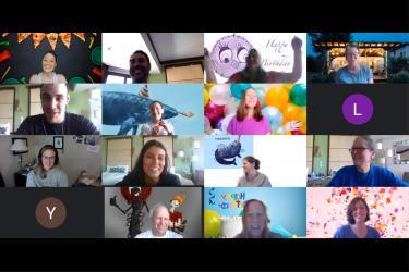 A screenshot of a MACS daily virtual meeting.