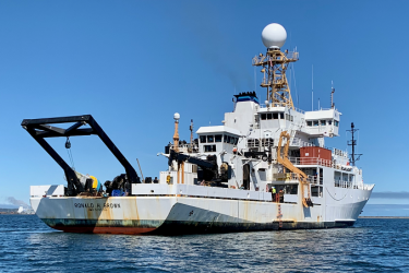 The NOAA ship Ronald H. Brown is currently sampling waters off the western U.S. during the 2021 West Coast Ocean Acidification Cruise.