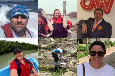Hispanic Heritage Month collage of NOAA Fisheries staff