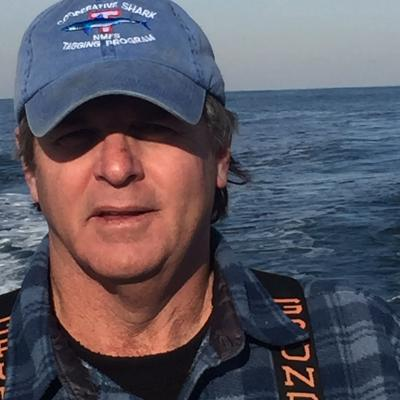 Kevin Wark selfie while at sea.