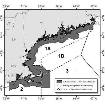 Amendment 8 inshore midwater trawl restricted area