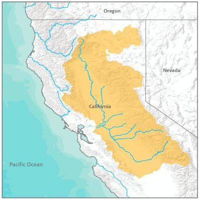 Map of California Central Valley Office boundary
