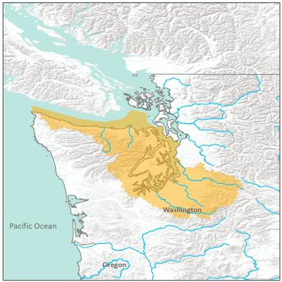 Map of Central Puget Sound branch boundary