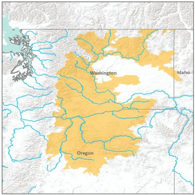 Map of Interior Columbia River branch