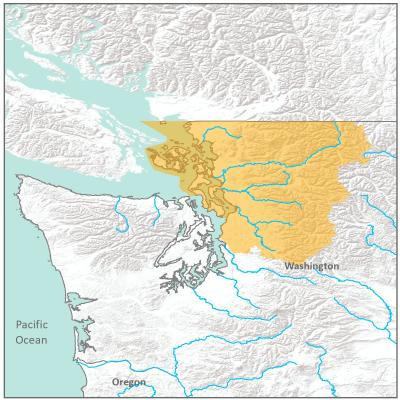 Map of North Puget Sound branch boundary