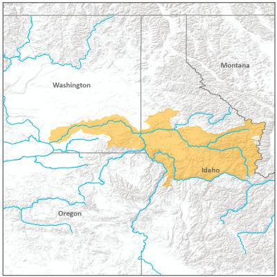 Map of Northern Snake River branch