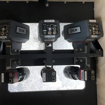 Photo aircraft camera housing with six of cameras.