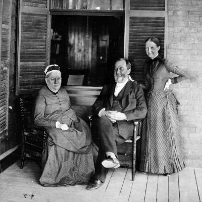 Spencer Baird and his wife Mary (seated) and daughter Lucy