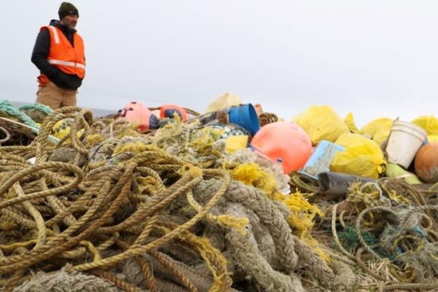 marine debris during St. Paul Island, Alaska, cleanup