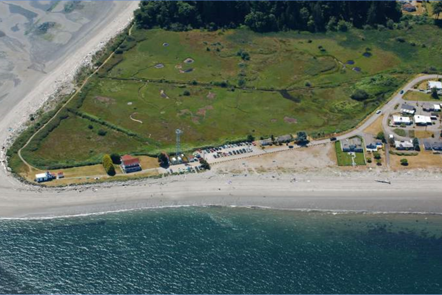 Aerial image of Point No Point Park, where this project is focused