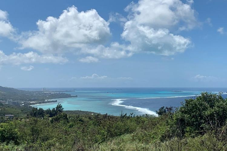 Picture of Saipan Lagoon from the coast.