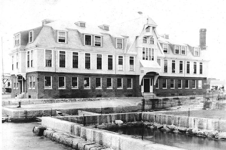 First permanent Woods Hole fisheries lab building, date unknown.