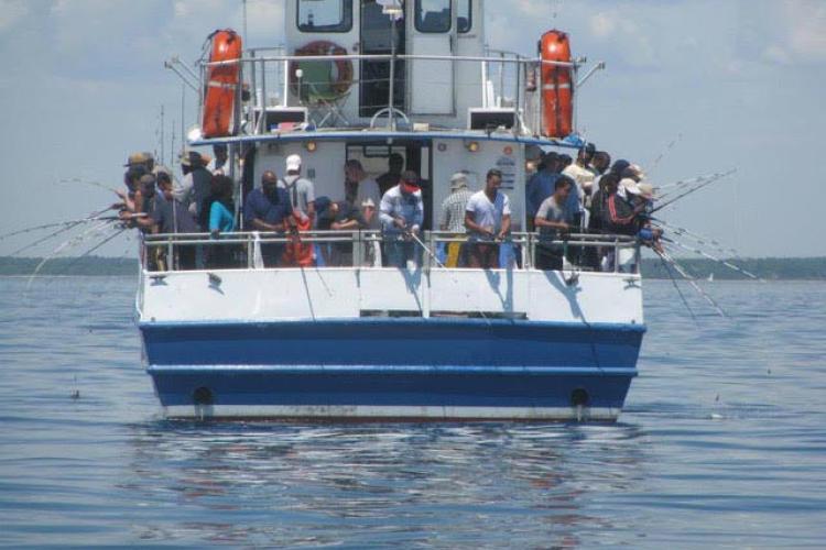 Anglers fish from headboat in Massachusetts