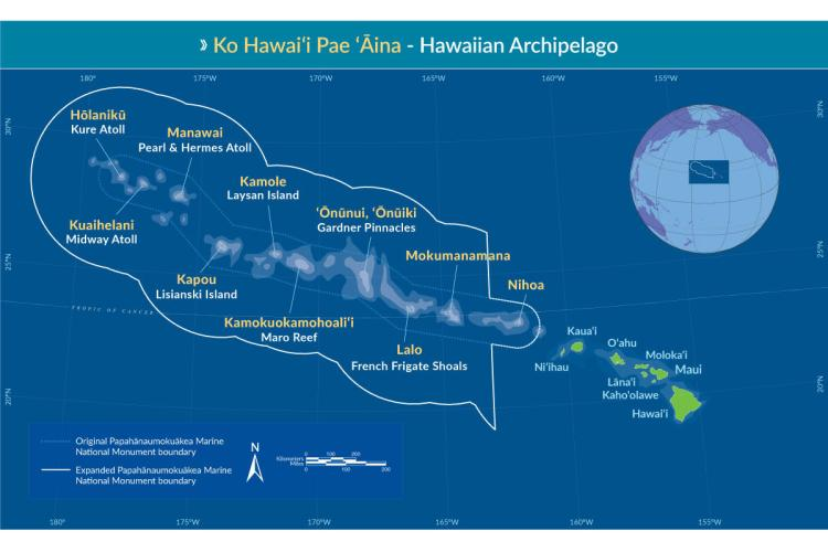 Map of the Hawaiian Archipelago.