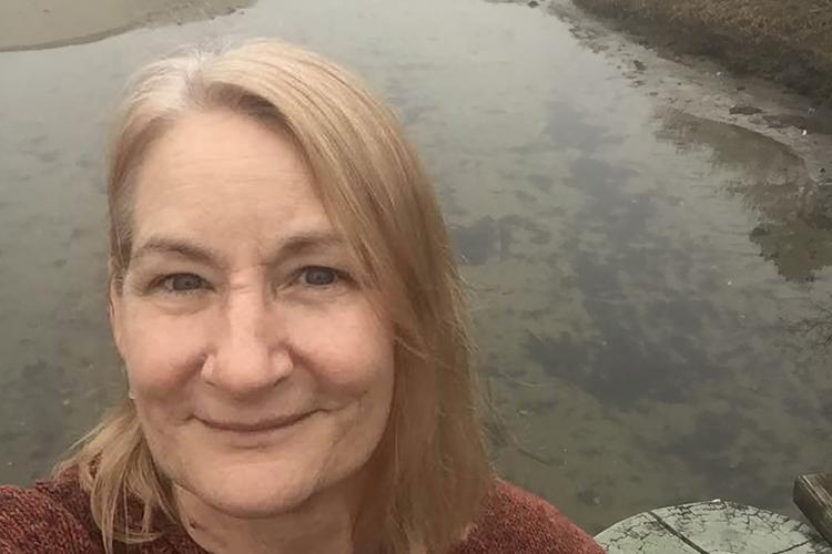 Susan-Marie Stedman at the Cape Cod salt marsh and tidal creek