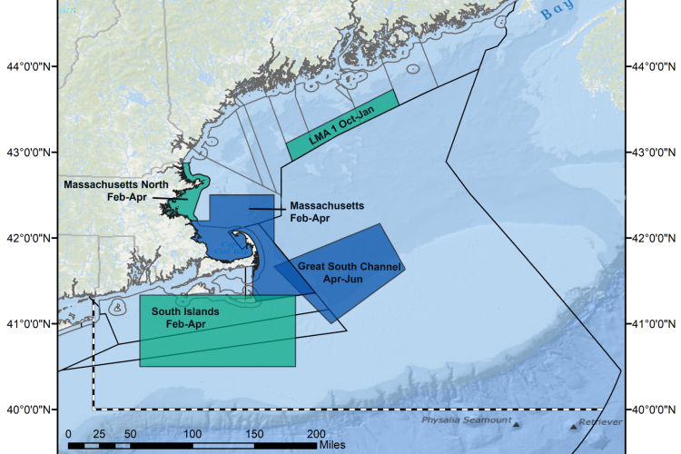 New and existing restricted areas in New England