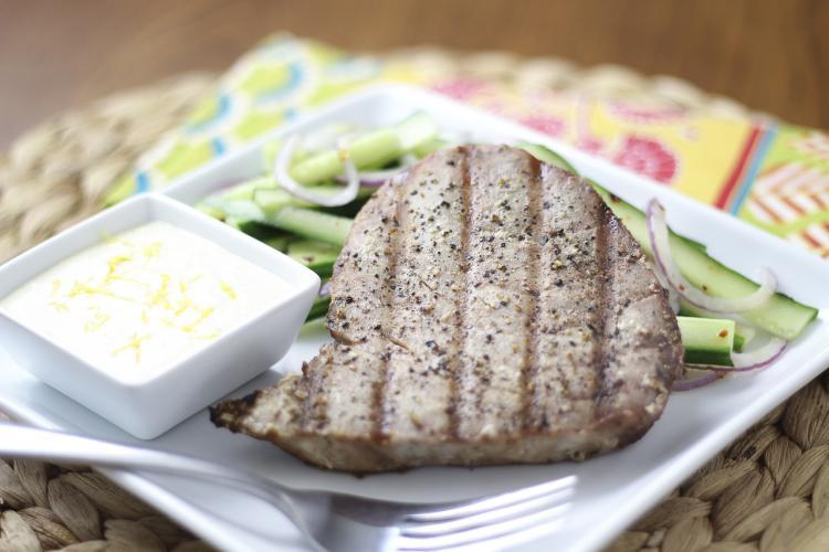 grilled tuna lemon with mayo_Mariners Menu_photo by Vanda Lewis_NC Sea Grant.jpg
