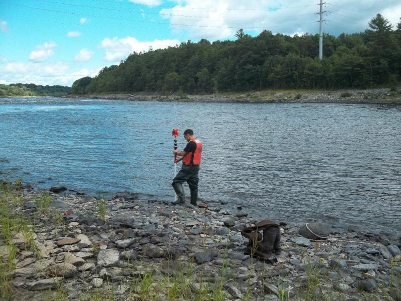 NOAA Employee Measures Channel Dimensions of Lower Penobscot River