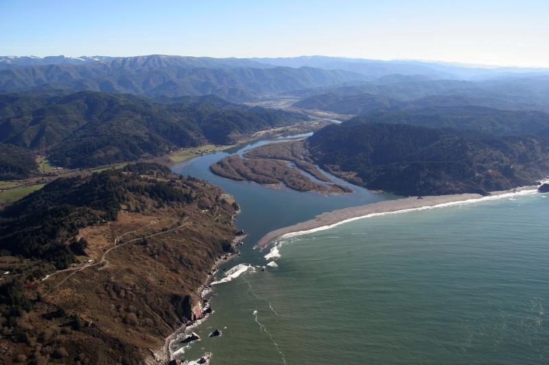 Klamath River from the air