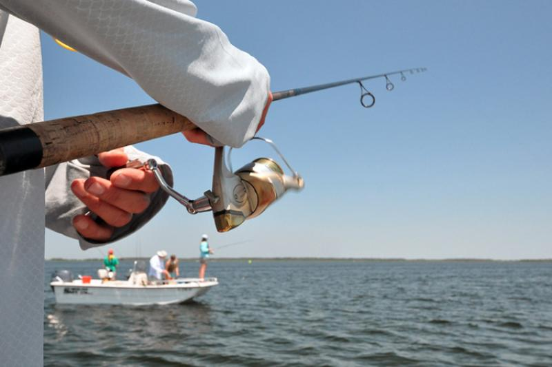 Recreational anglers fish off the coast of Florida.