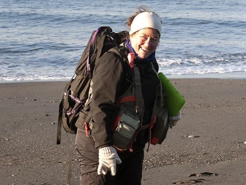 Dr. Anne Shaffer on beach