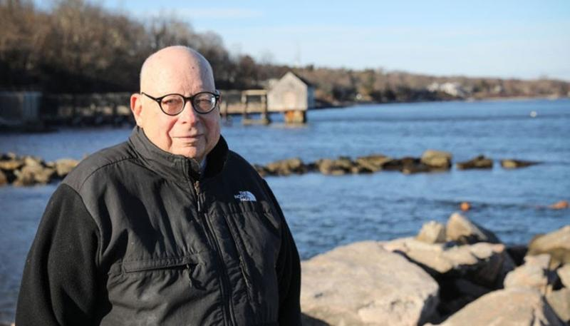 Ken Sherman at the waters edge.