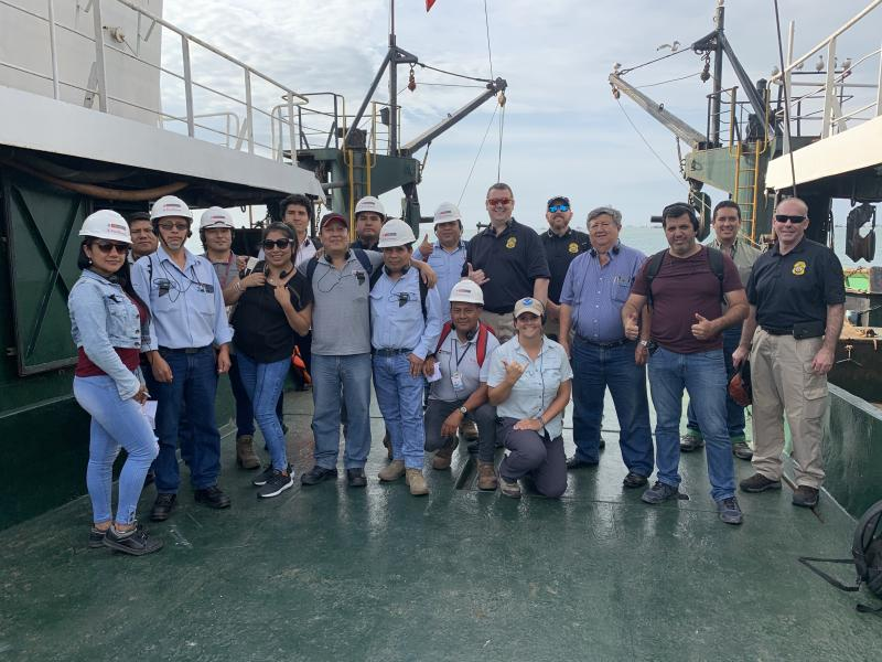 NOAA OLE Port State Measures Inspector Training in Lima, Peru.