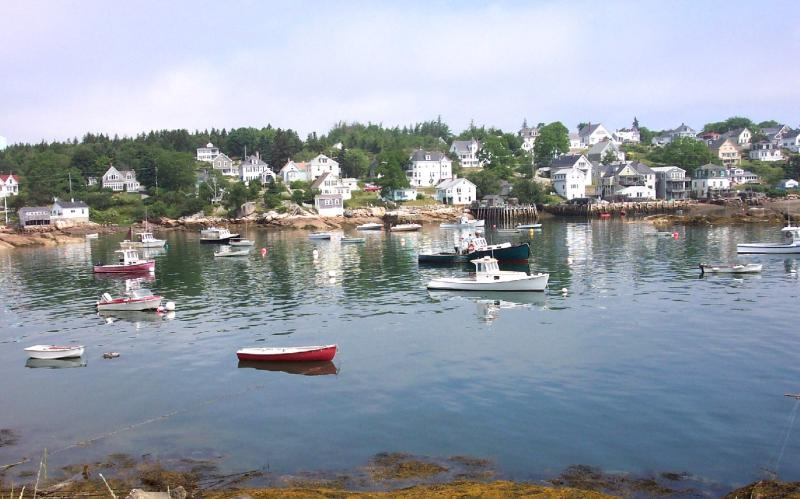 The harbor at Stonington Maine on the south end of Deer Isle. Stonington, Deer Isle, Maine.