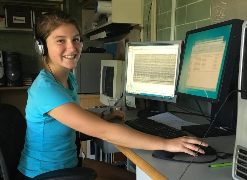 Katie Shelledy at computer