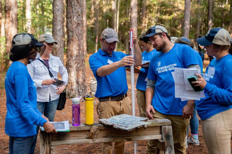2018-10 GulfCorps Yr2 Orientation Forest Field Work Mike Dumas TNC.jpg
