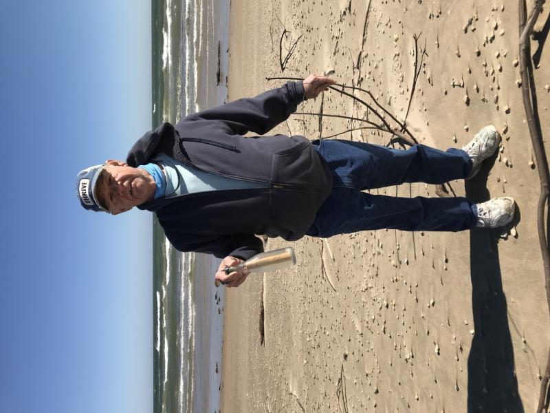 Jim Duke with shrimp study bottle Texas.jpg