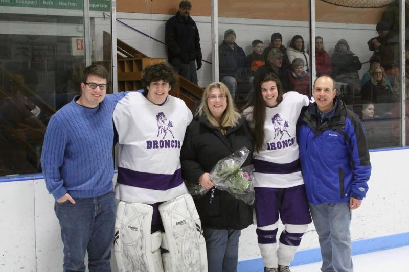Hockey night for the Kocik family