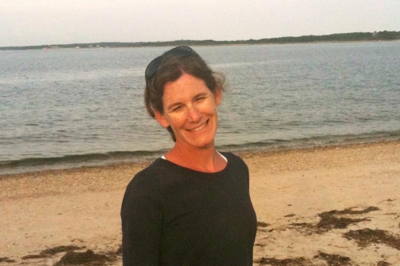 Paula Fratantoni at the beach.