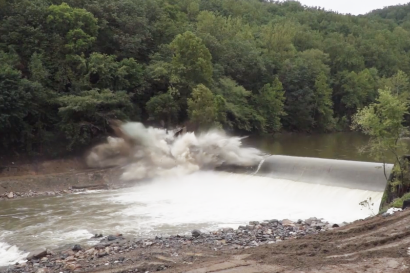 Screen Shot of Bloede Dam Blast Video 3x2 Elevate Media Inc.png